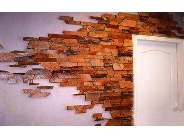 Стены под камень своими руками
